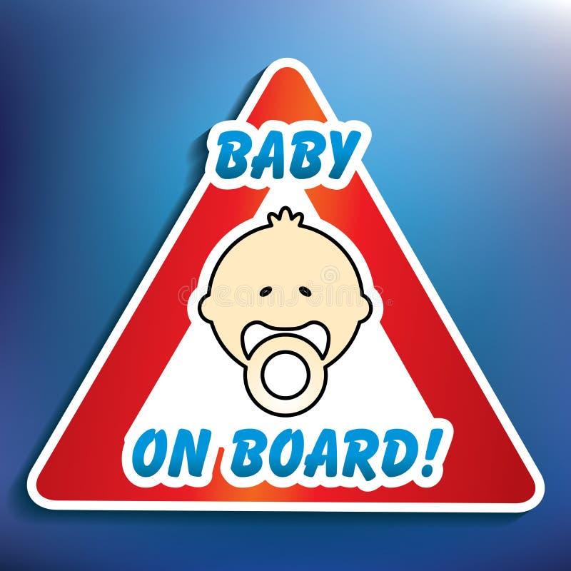 Μωρό στην αυτοκόλλητη ετικέττα ελεύθερη απεικόνιση δικαιώματος