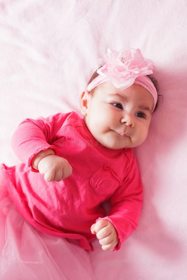 Μωρό στο ρόδινο tutu στοκ φωτογραφίες