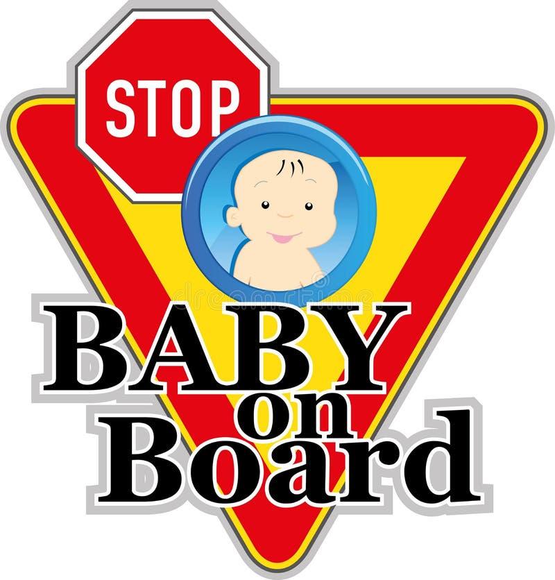 Μωρό στο σημάδι διανυσματική απεικόνιση