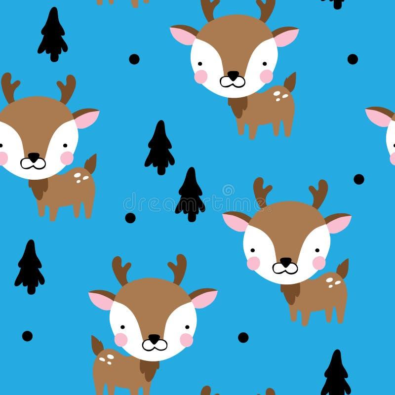 Μωρό Deers για τα αγόρια διανυσματική απεικόνιση