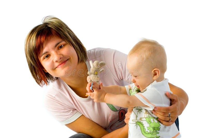 μωρό mom στοκ εικόνα