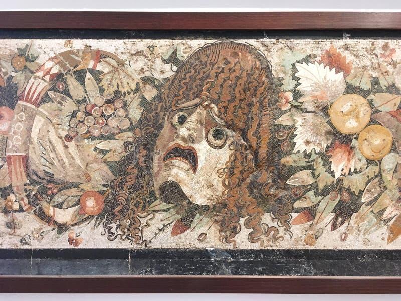 Μωσαϊκό από την Πομπηία, μουσείο MANN, Νάπολη στοκ εικόνα με δικαίωμα ελεύθερης χρήσης