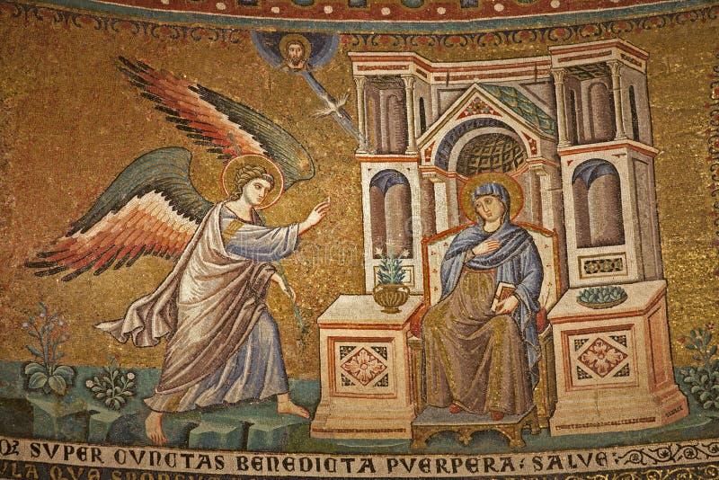 μωσαϊκό Ρώμη annuntiation trastevere στοκ εικόνες