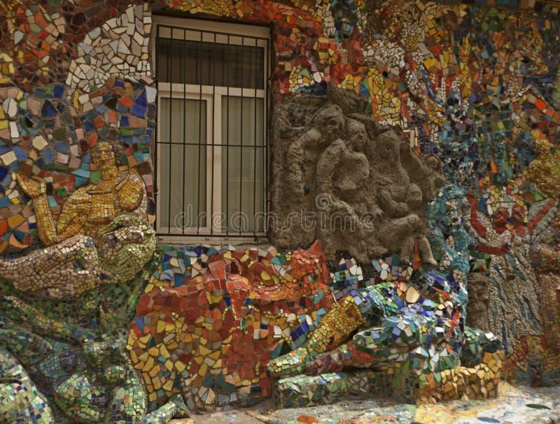 Μωσαϊκό στον τοίχο του σπιτιού στοκ εικόνες με δικαίωμα ελεύθερης χρήσης
