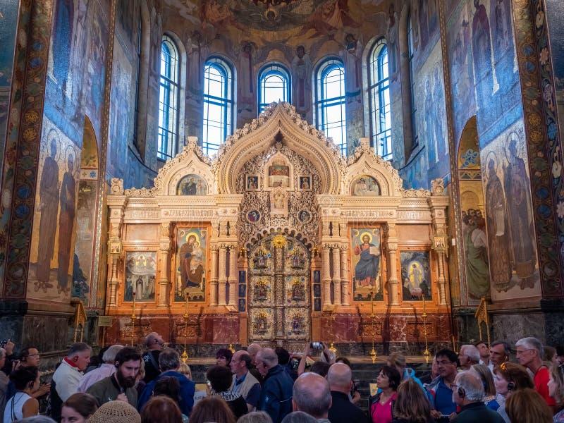 Μωσαϊκό στο εσωτερικό της εκκλησίας Savior στο αίμα, Ρωσία στοκ εικόνες