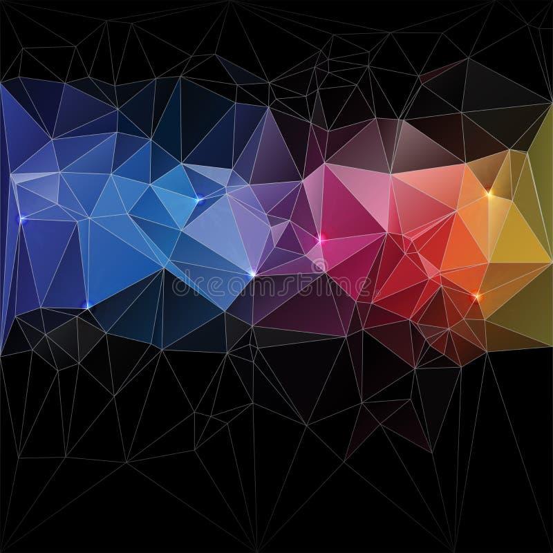 Μωσαϊκό σχεδίου έννοιας τριγώνων   ελεύθερη απεικόνιση δικαιώματος