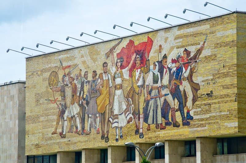 Μωσαϊκό του Εθνικού Μουσείου στα Τίρανα, Αλβανία στοκ εικόνες με δικαίωμα ελεύθερης χρήσης