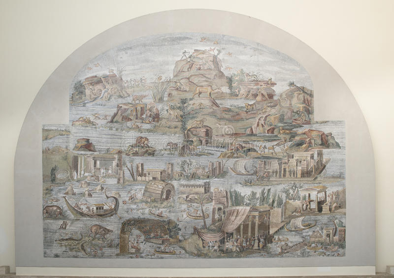 Μωσαϊκό του Νείλου Palestrina στοκ φωτογραφία με δικαίωμα ελεύθερης χρήσης