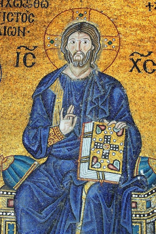 μωσαϊκό Χριστού Ιησούς στοκ φωτογραφία