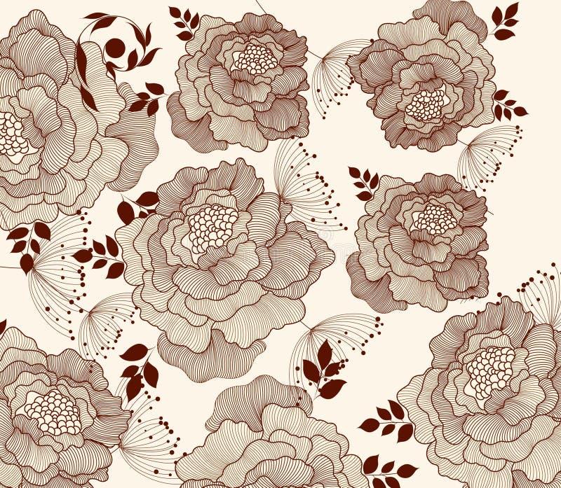 μόδα ανασκόπησης floral διανυσματική απεικόνιση