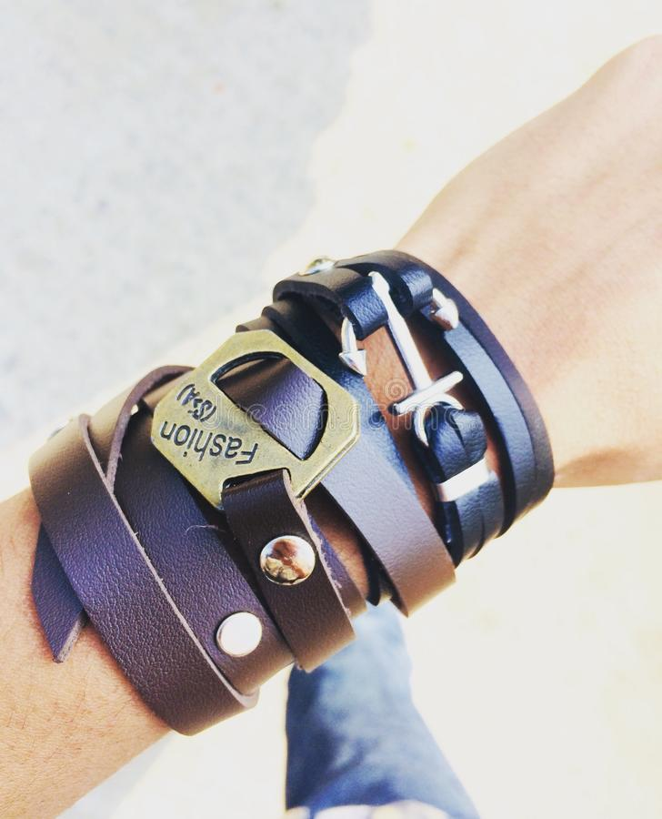Μόδα ατόμων wristband στοκ εικόνα