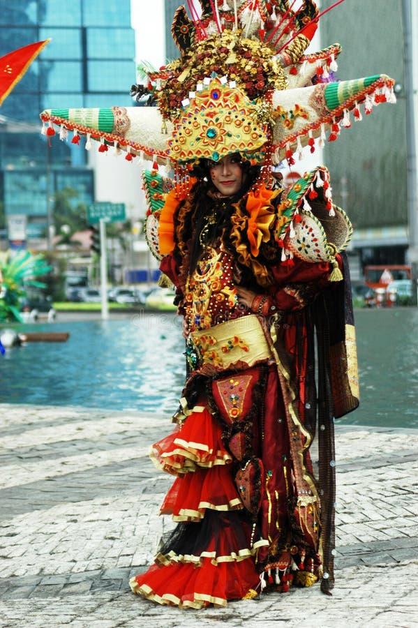 μόδα καρναβαλιού jember στοκ φωτογραφία με δικαίωμα ελεύθερης χρήσης
