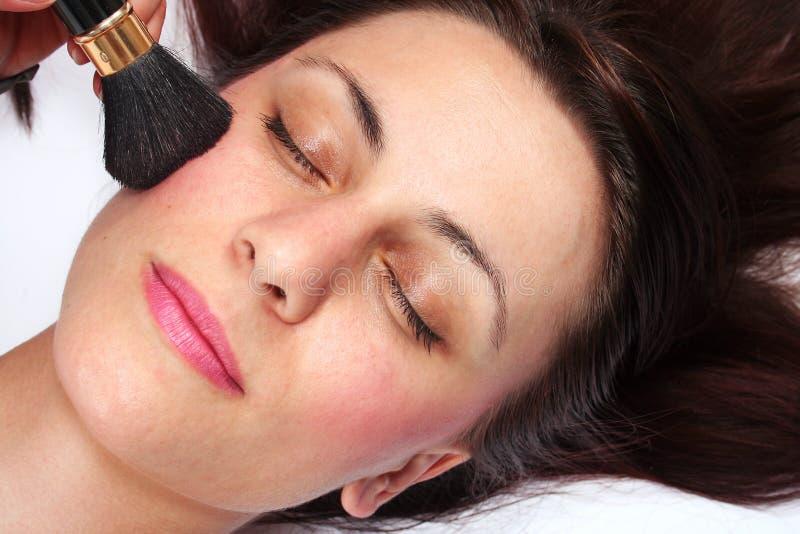 μόδα προσώπου makeup στοκ φωτογραφία