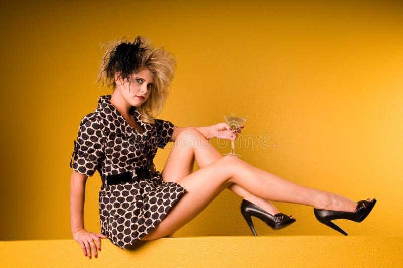 μόδα υψηλό martini στοκ φωτογραφία