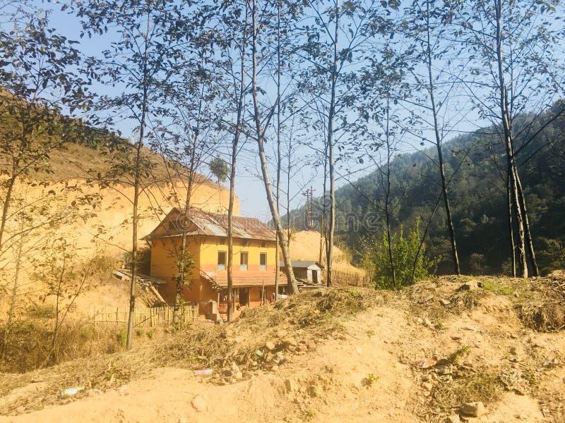 Μόνη εγχώρια βουνοπλαγιά Κατμαντού στοκ εικόνα