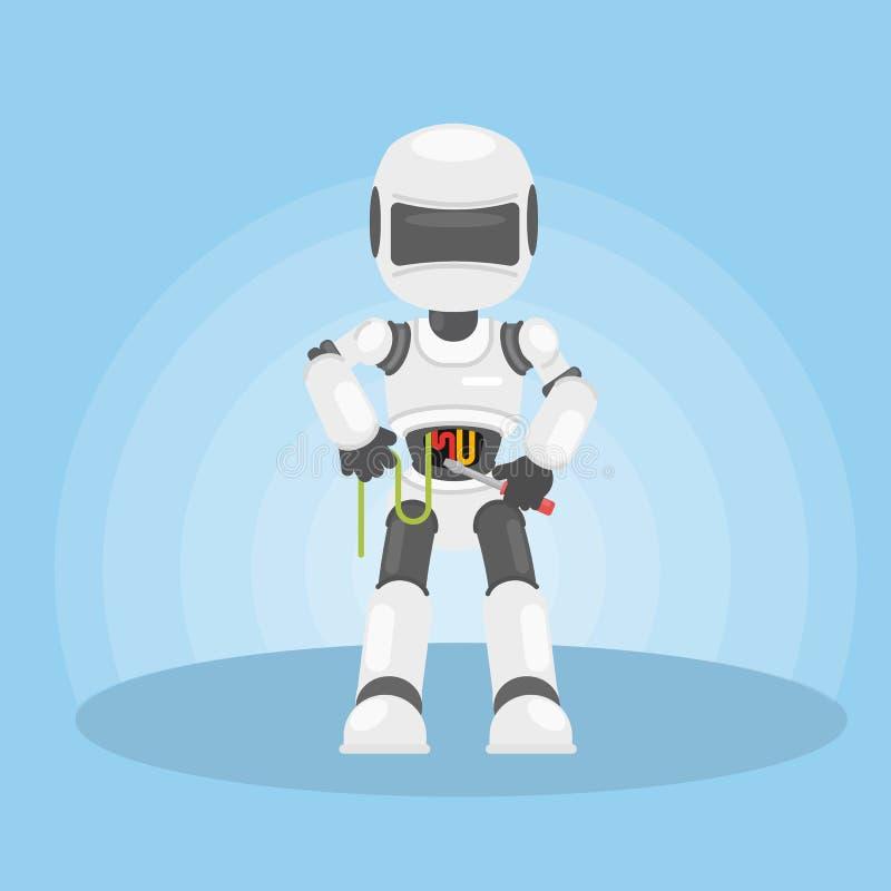 Μόνη επισκευή ρομπότ ` s ελεύθερη απεικόνιση δικαιώματος