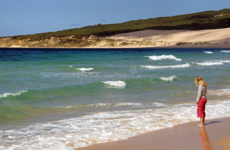 μόνη παραλία στοκ φωτογραφία με δικαίωμα ελεύθερης χρήσης
