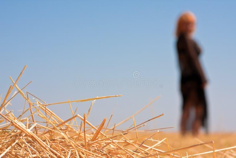 μόνη σκιαγραφία κοριτσιών στοκ φωτογραφίες με δικαίωμα ελεύθερης χρήσης