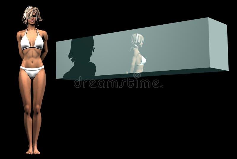 μόνιμη γυναίκα τοίχων λογότυπων απεικόνιση αποθεμάτων