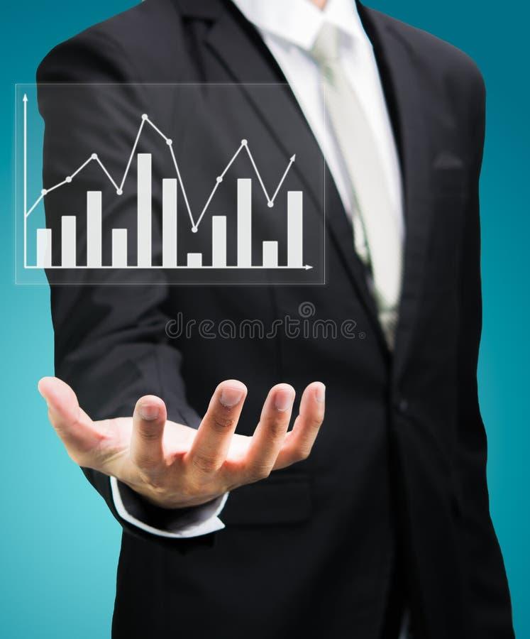 Μόνιμη χρηματοδότηση γραφικών παραστάσεων εκμετάλλευσης χεριών στάσης επιχειρηματιών που απομονώνεται στοκ εικόνα