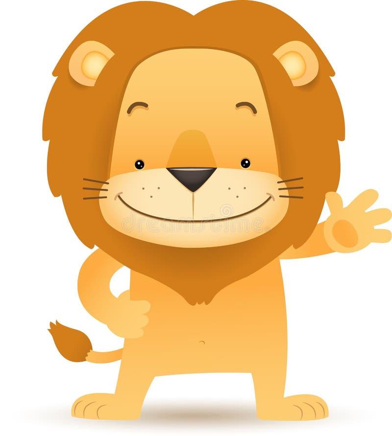 μόνιμος κυματισμός λιονταριών lino χεριών διανυσματική απεικόνιση