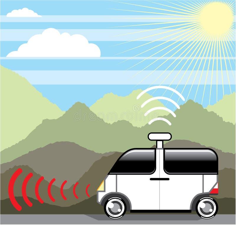 Μόνος-οδηγώντας αυτοκίνητο Αυτοκίνητο Driverless απεικόνιση αποθεμάτων