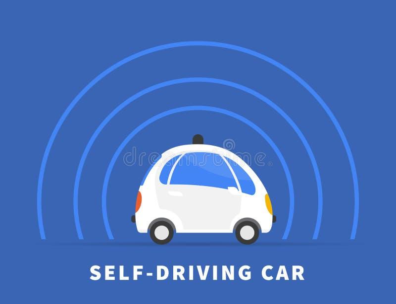 Μόνος-οδηγώντας μαύρο εικονίδιο αυτοκινήτων απεικόνιση αποθεμάτων