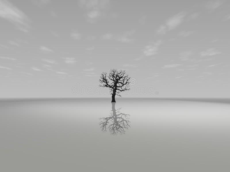 μόνο δέντρο διανυσματική απεικόνιση