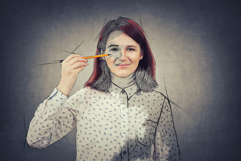 Μόνο κορίτσι ανάπτυξης στοκ φωτογραφία με δικαίωμα ελεύθερης χρήσης