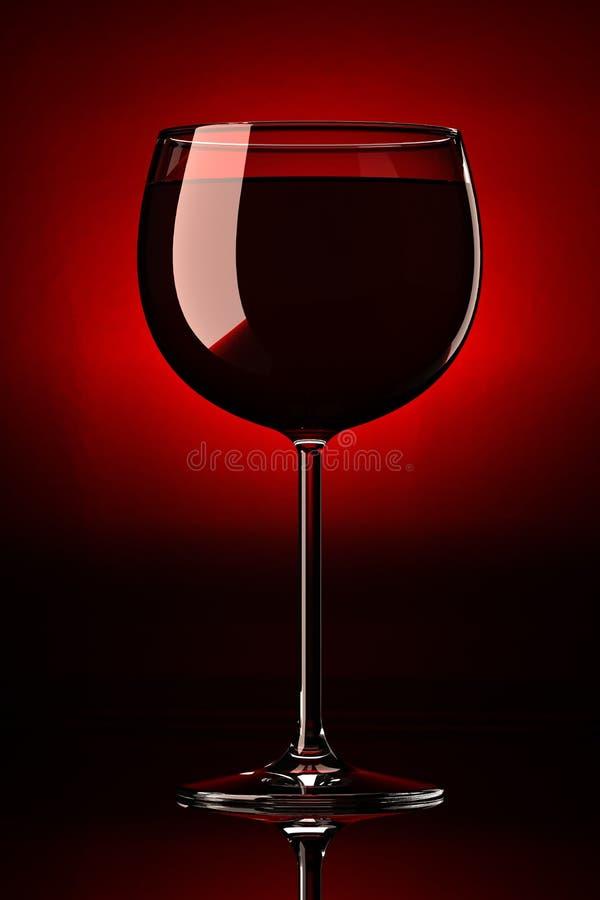 μόνο κόκκινο κρασί XL γυαλιού στοκ εικόνες