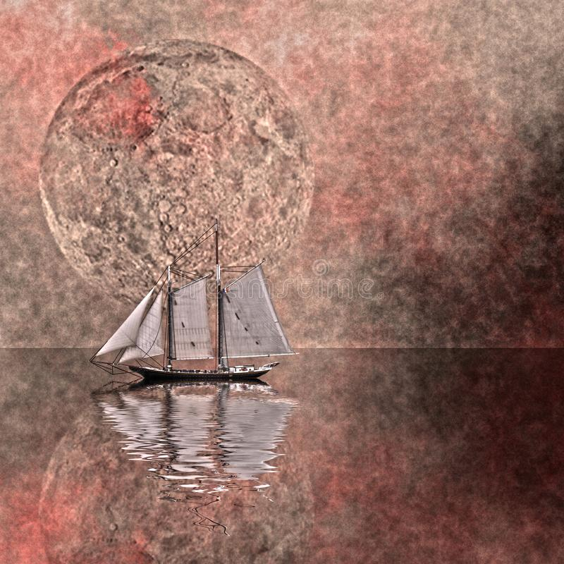 μόνο σκάφος ελεύθερη απεικόνιση δικαιώματος