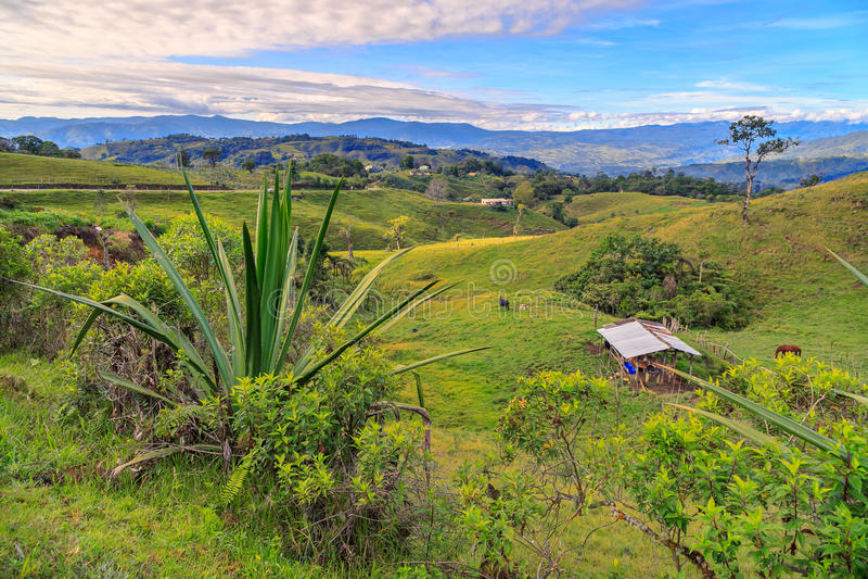 Μόνο σπίτι στα πράσινα βουνά στοκ φωτογραφίες με δικαίωμα ελεύθερης χρήσης