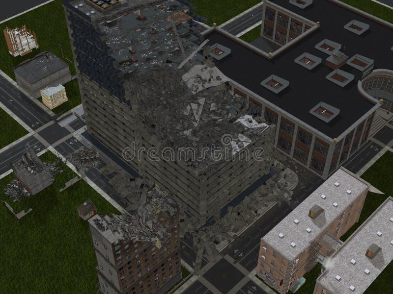 Μόνο στις καταστροφές CityCity διανυσματική απεικόνιση