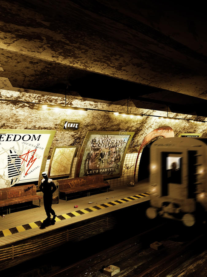 Μόνο στον υπόγειο ελεύθερη απεικόνιση δικαιώματος