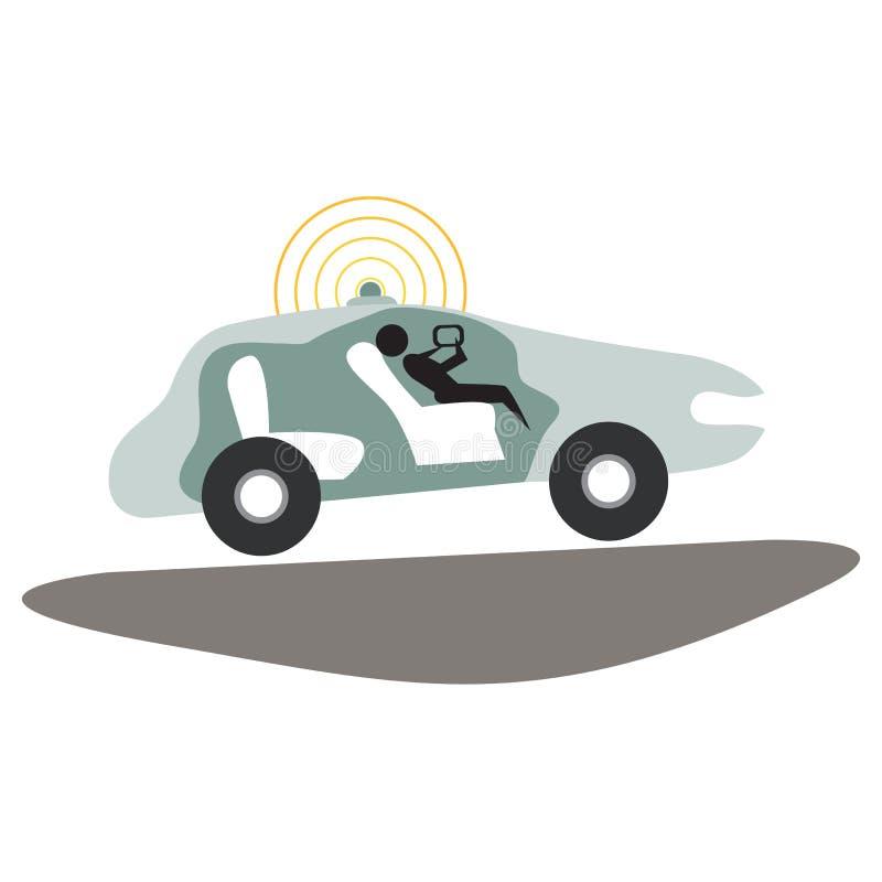 Μόνο Drive εικονίδιο αυτοκινήτων απεικόνιση αποθεμάτων