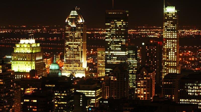 Μόντρεαλ τη νύχτα στοκ φωτογραφία με δικαίωμα ελεύθερης χρήσης