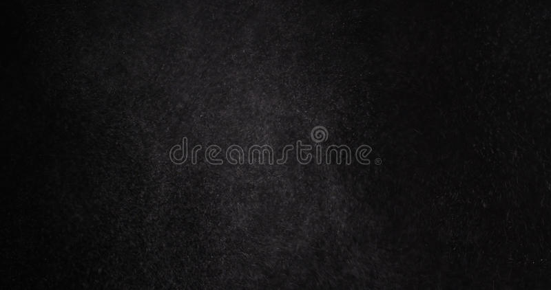 Μόρια σκόνης αλευριού στο μαύρο υπόβαθρο στοκ εικόνες