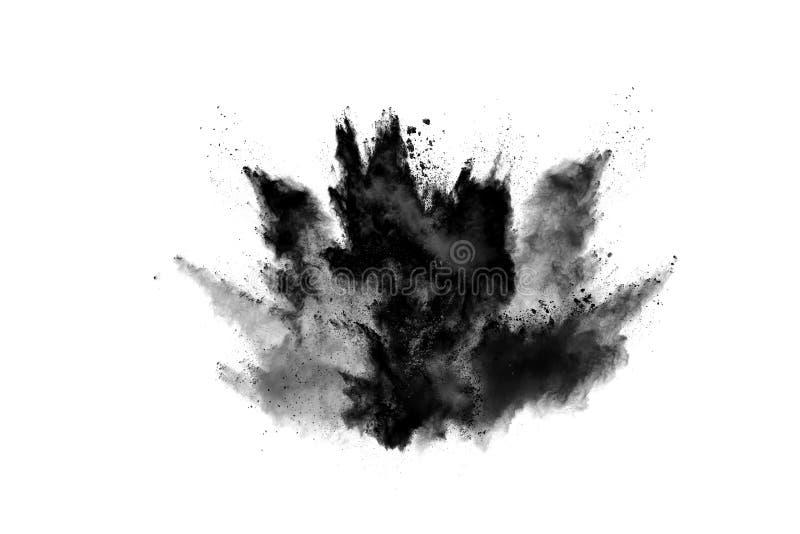 Μόρια του ξυλάνθρακα στο άσπρο υπόβαθρο στοκ φωτογραφία με δικαίωμα ελεύθερης χρήσης
