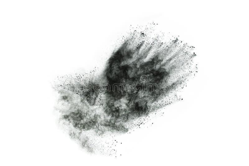 Μόρια του ξυλάνθρακα στο άσπρο υπόβαθρο στοκ εικόνες με δικαίωμα ελεύθερης χρήσης