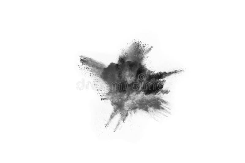 Μόρια του ξυλάνθρακα στο άσπρο υπόβαθρο στοκ φωτογραφίες με δικαίωμα ελεύθερης χρήσης