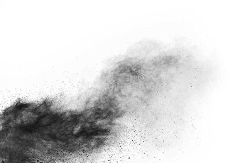 Μόρια του ξυλάνθρακα στο άσπρο υπόβαθρο στοκ εικόνα με δικαίωμα ελεύθερης χρήσης