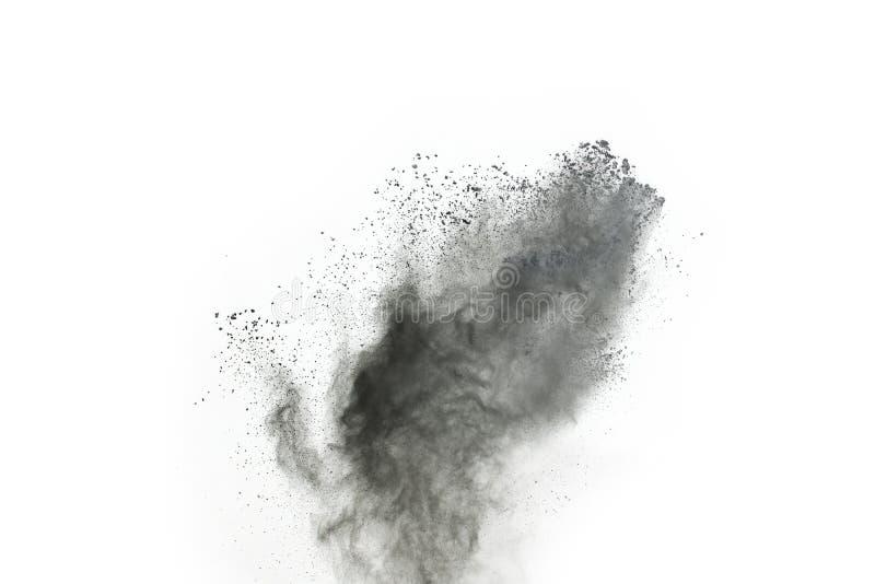 Μόρια του ξυλάνθρακα στο άσπρο υπόβαθρο στοκ φωτογραφία