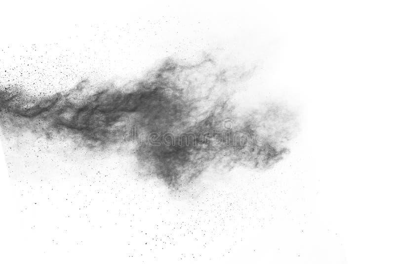 Μόρια του ξυλάνθρακα στο άσπρο υπόβαθρο στοκ εικόνα