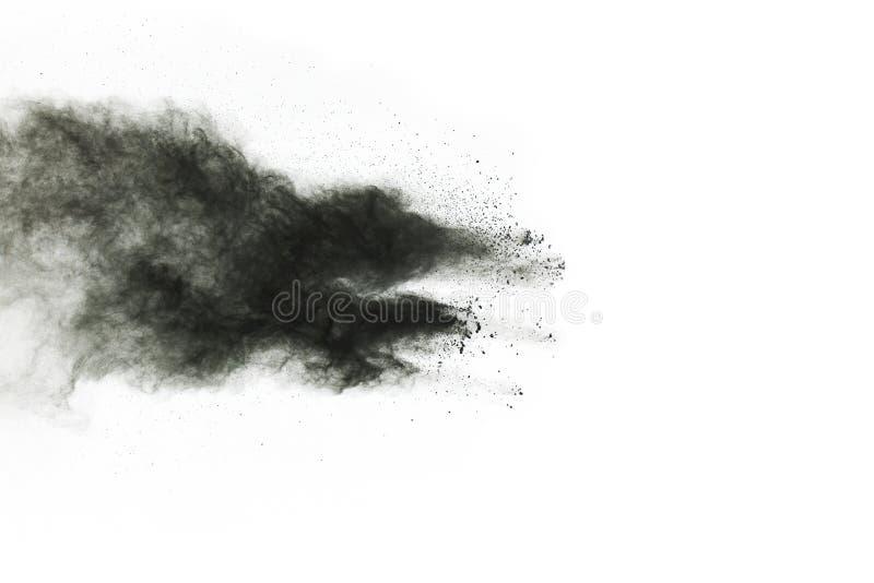 Μόρια του ξυλάνθρακα στο άσπρο υπόβαθρο στοκ φωτογραφίες