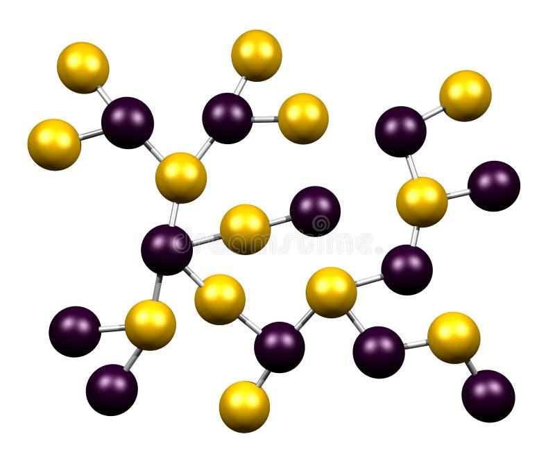 μόρια χημείας ελεύθερη απεικόνιση δικαιώματος