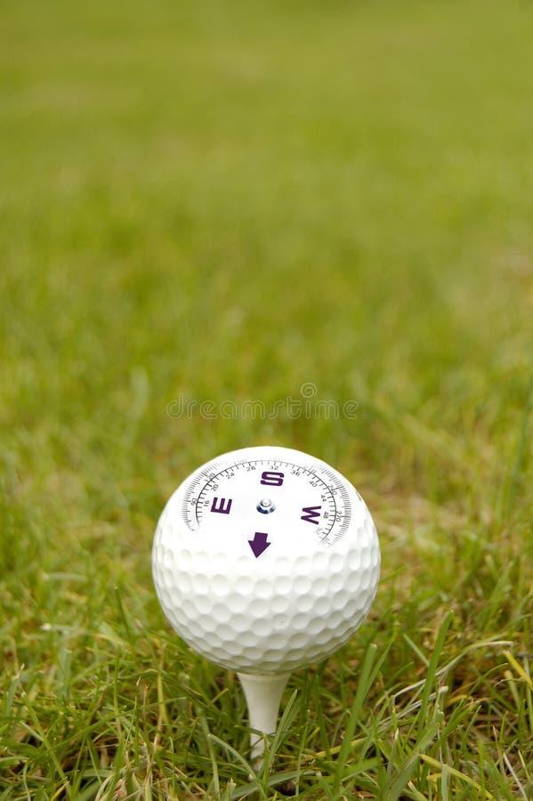 μόριο γκολφ πυξίδων σφαιρών στοκ εικόνες