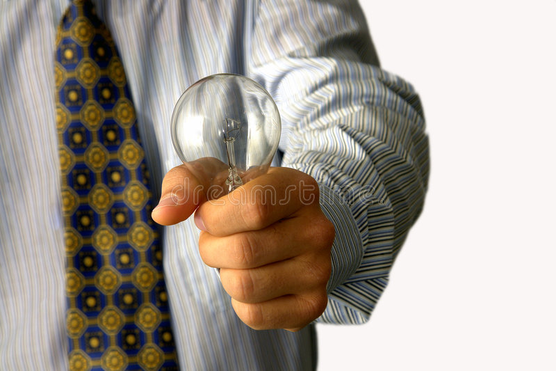 μόριο ιδέας επιχειρηματιώ&n στοκ εικόνα