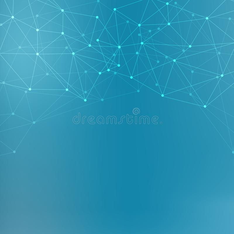 Μόριο και επικοινωνία δομών DNA, άτομο, νευρώνες Επιστημονική έννοια για το σχέδιό σας Συνδεδεμένες γραμμές με τα σημεία στοκ φωτογραφίες με δικαίωμα ελεύθερης χρήσης