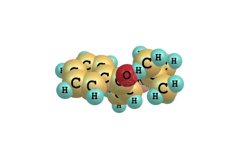 Μόριο Bupropion που απομονώνεται στο λευκό ελεύθερη απεικόνιση δικαιώματος