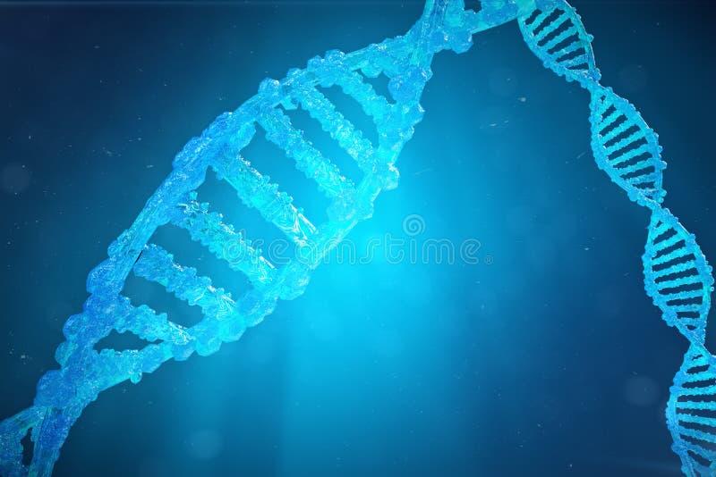 Μόριο DNA ελίκων με τα τροποποιημένα γονίδια Μεταλλαγή διόρθωσης από τη γενετική εφαρμοσμένη μηχανική Μοριακή γενετική έννοιας, τ ελεύθερη απεικόνιση δικαιώματος